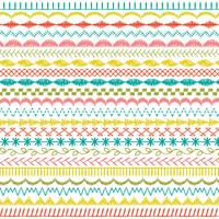 hand drawn pastel stitched border patterns