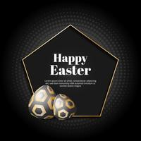 Fondo de oro feliz día de Pascua