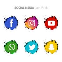 Popular Social Media Watercolor Set