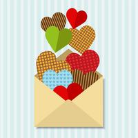 Letter with a lot of hearts
