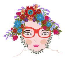 Frühling Zeit Fantasy. florale Seele