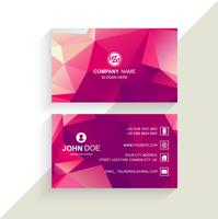 Beautiful Business card template polygon