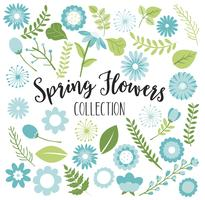 Blue Spring Flowers vector