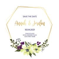 Blommig bröllopsram