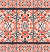 Talavera tile. Vibrant Mexican seamless pattern