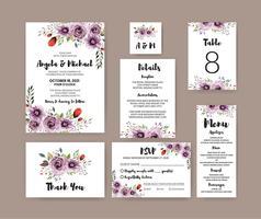 Conjunto floral de la boda