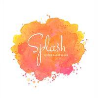 Aquarelle multicolore splash blot