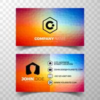Vector modern green business card design template on clean backgound.