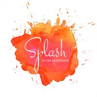 Hand drawn colorful soft watercolor splash design