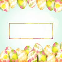 Easter eggs with frame background