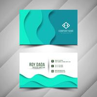 Abstract modern business card template vector