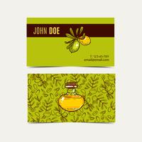Argan business cards. Eco style in natural colors.  vector