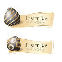 Realistic Easter day sale banner
