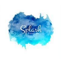 Abstract decorative watercolor splash design background