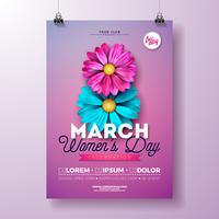 Women's Day Party Flyer Illustration
