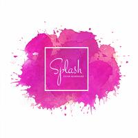 Colorful splash soft watercolor design