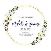 Floral bruiloft frame ontwerp