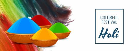 Bunter Fahnendesign des glücklichen indischen Festivals Holi
