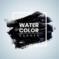 Black Watercolor Banner Design