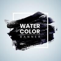 Schwarzer Aquarell Banner Design