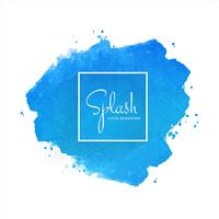 Blue splash soft watercolor design