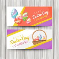 Flat easter day sale banner