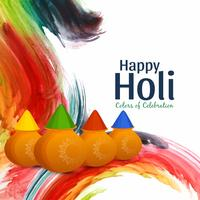 Abstract Happy Holi colorful celebration background vector