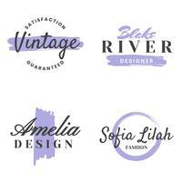 Logo Vector Retro Vintage femenino