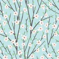 Vector floral pattern with flowers and branches.