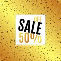 Gold Banner Sale, 50 discount.