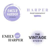 Logo vettoriale vintage femminile retrò