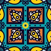 Talavera oblana Mexican seamless pattern