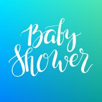 Baby Shower text. Custom lettering Invitation for baby arrival.
