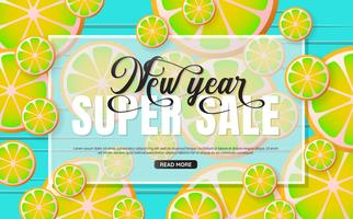 New Year sale Background Vector background