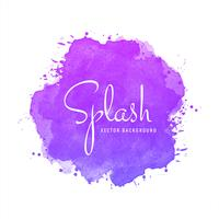 Watercolor colorful splash