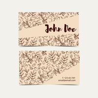 Argan business cards. Eco style in natural colors.