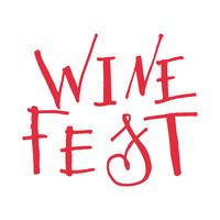 Lettrage pour la fête du vin.