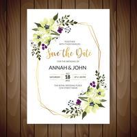 Blom- bröllopskort
