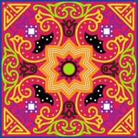 Talavera tile. Vibrant Mexican seamless pattern,