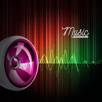 Abstract vector shiny background with speaker.
