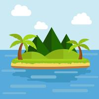 Isla tropical vector