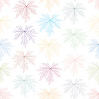 Colorful skeleton leaves seamless background.