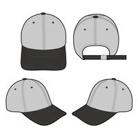 Conception de maquette illustration vecteur plat Snapback Cap mode