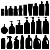 Bathroom Silhouette Set Vector.