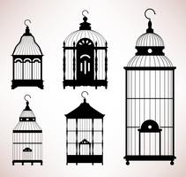 Bird Cage vintage silhouettes.