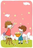 Children Clip Art vector design illustration template
