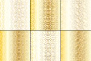 metallic gold and white wrought iron patterns