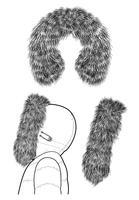 Modèle d'illustration de dessin vectoriel fourrure