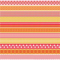 Pink & Orange Mod Border Patterns