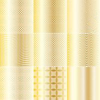 Gold and White Op Art Patterns
